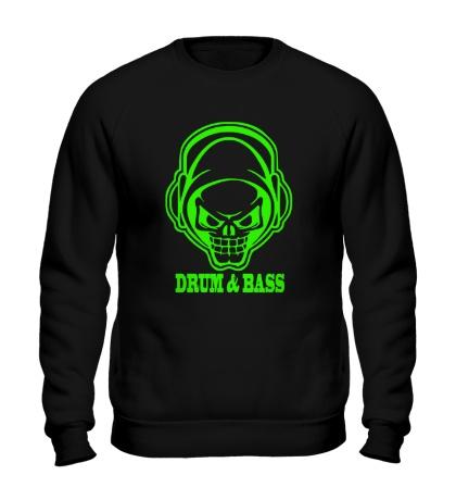 Свитшот Drum & Bass Skull Glow