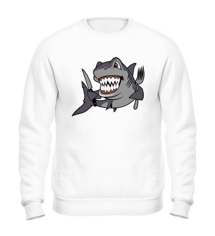 Свитшот Голодная акула