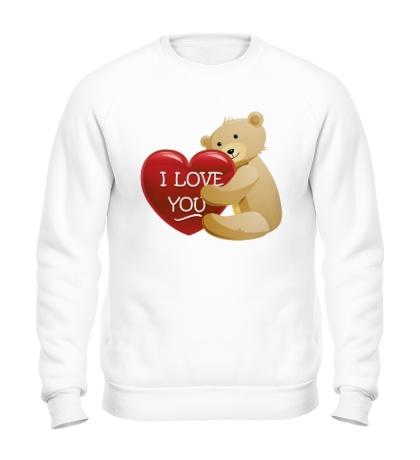 Свитшот Медведь с сердцем