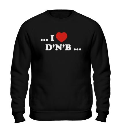 Свитшот I Love DnB