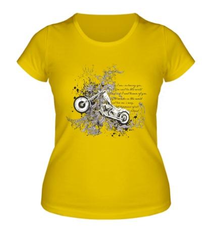 Женская футболка Chopper Art