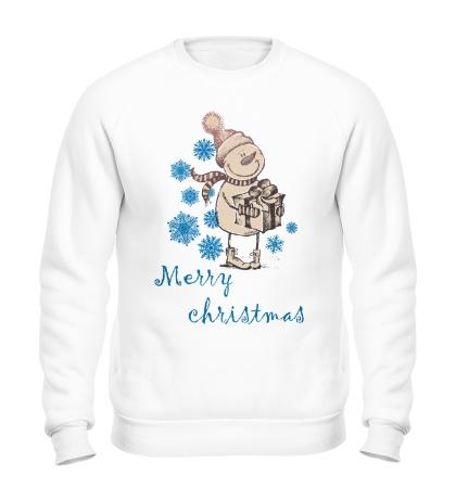 Свитшот Snowman: Merry Christmas