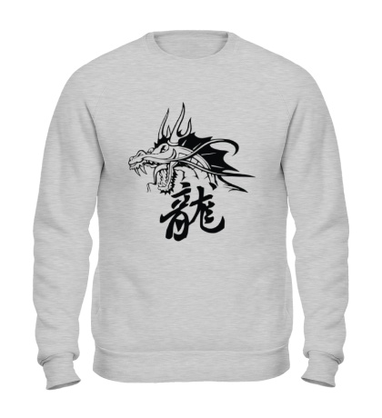 Свитшот Дракон с иероглифом