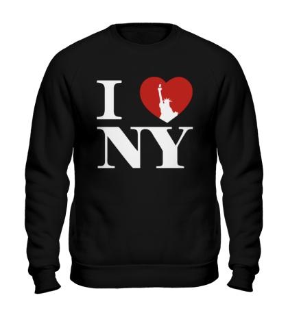 Свитшот NY Love