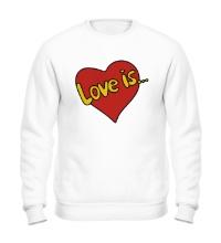 Свитшот Love is