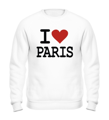 Свитшот I love Paris