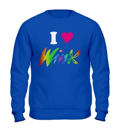 Свитшот I love Winx