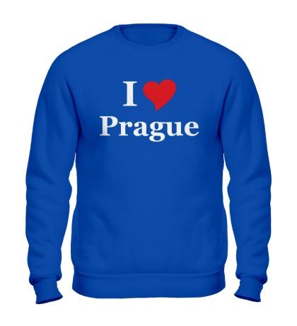 Свитшот I Love Prague
