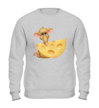 Свитшот Мышка с сыром