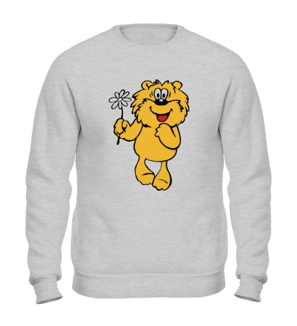 Свитшот Медвежонок с ромашкой