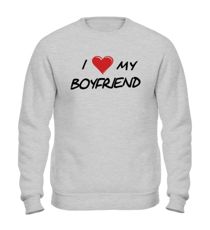 Свитшот I love my boyfriend