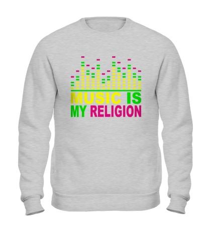 Свитшот Music is my religion