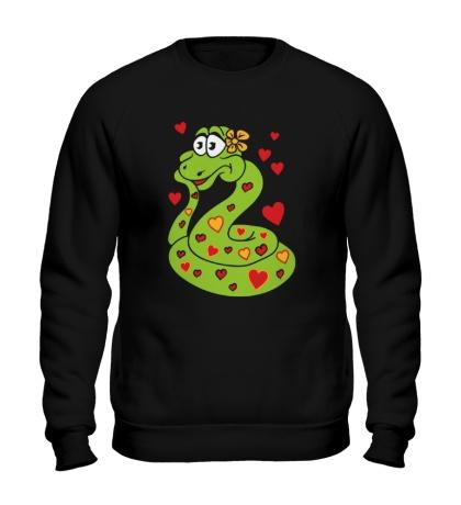 Свитшот Влюбленная змея