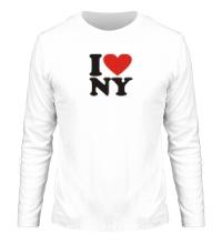 Мужской лонгслив I love NY