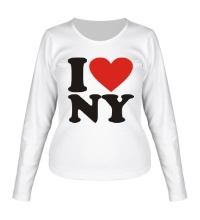 Женский лонгслив I love NY