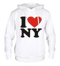 Толстовка с капюшоном I love NY