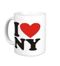 Керамическая кружка I love NY