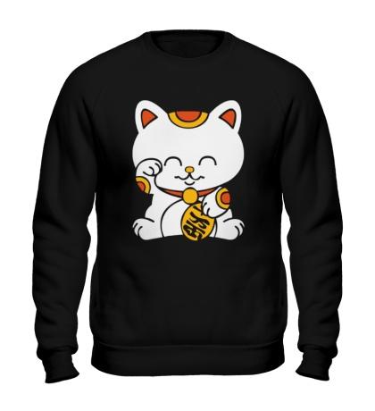 Свитшот Манэки-нэко кошка зовущие счастье