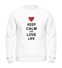 Свитшот Keep calm and love life