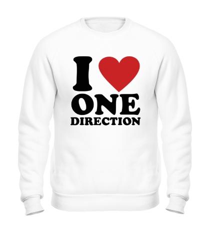 Свитшот I love One Direction