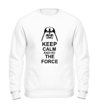 Свитшот Keep calm and use the force
