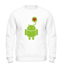 Свитшот Андройд влюблен