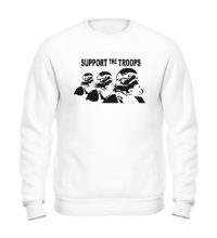 Свитшот Support the troops