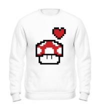 Свитшот Влюбленный грибок из игры Марио