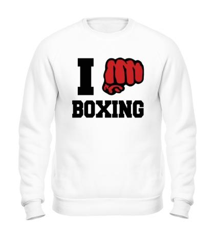 Свитшот I love boxing