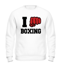 Свитшот I love boxing