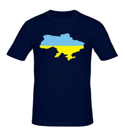 Мужская футболка Карта Украины
