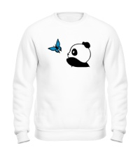 Свитшот Панда с бабочкой