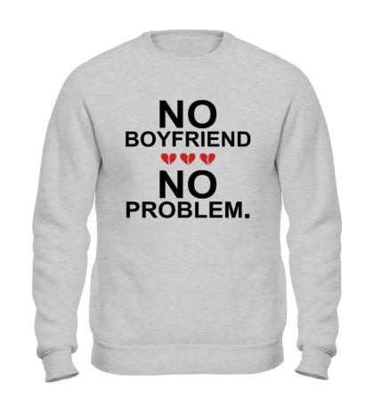 Свитшот No boyfriend no problem.