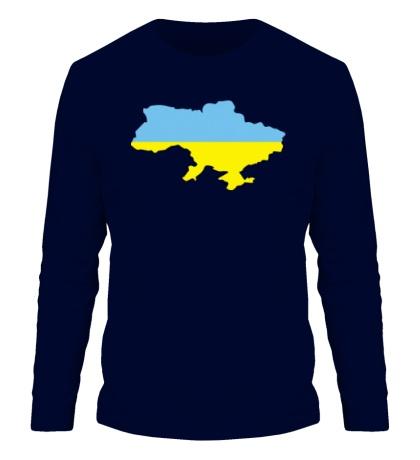 Мужской лонгслив Карта Украины