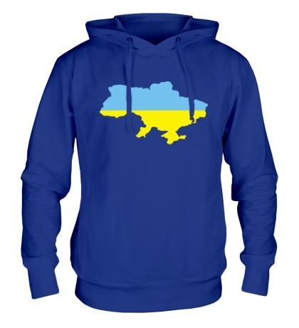 Толстовка с капюшоном Карта Украины