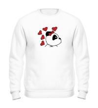Свитшот Поцелуй панды девочки