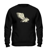 Свитшот Граната с крыльями glow