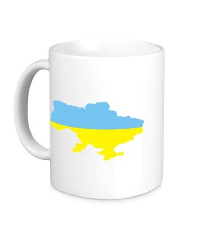 Керамическая кружка Карта Украины