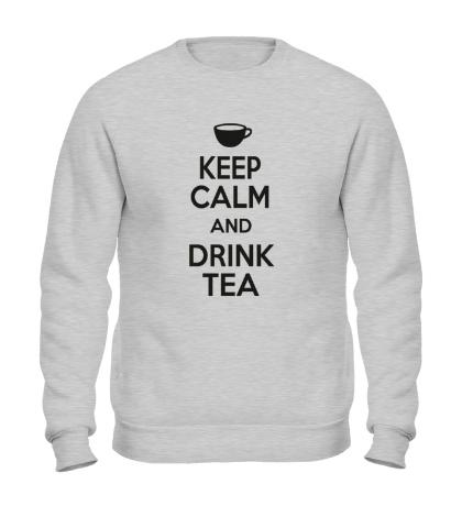 Свитшот Keep calm and drink tea