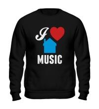 Свитшот I Listen House Music