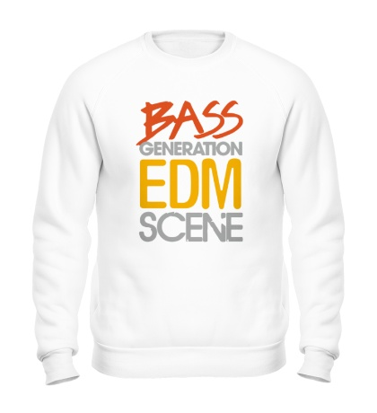 Свитшот Bass generation EDM scene
