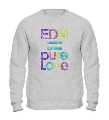 Свитшот EDM pure love