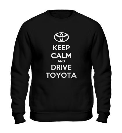 Свитшот Keep calm and drive Toyota