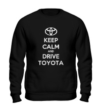 Свитшот Keep calm and drive Toyota