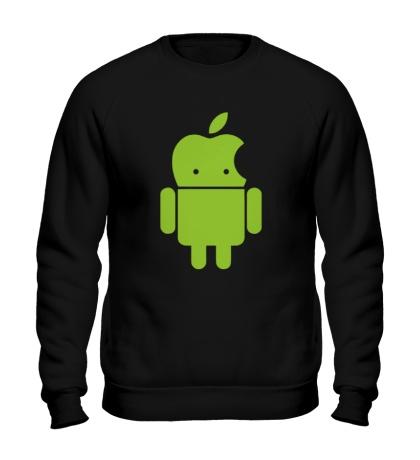 Свитшот Андроид яблокоголовый