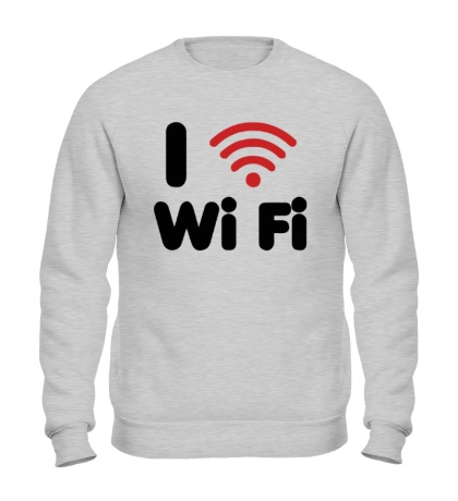 Свитшот I love Wi Fi