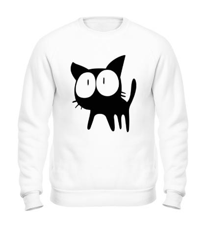 Свитшот Удивленный котенок