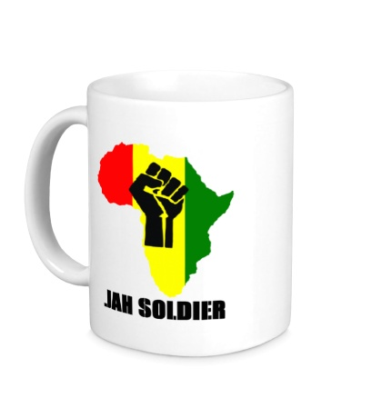 Керамическая кружка Jah Soldier