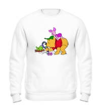 Свитшот Винни Пух и лягушка