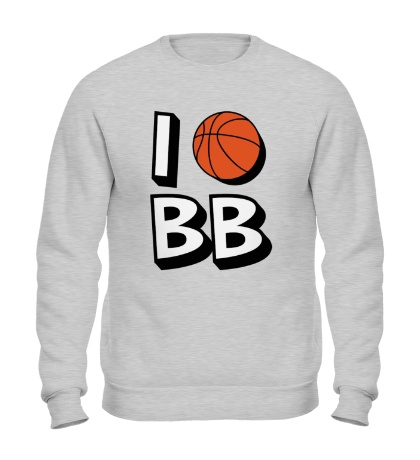 Свитшот I love Basketball